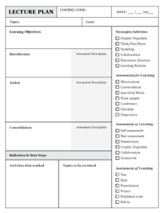 Lesson Plan Template Download In Word Or Pdf | Top Hat pertaining to Teacher Plan Book Template Word