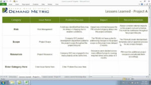Lessons Learned Template intended for Lessons Learnt Report Template