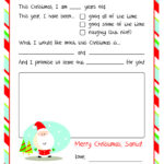 Letter To Santa – Free Printable | Christmas Ideas | Santa Inside Santa Letter Template Word