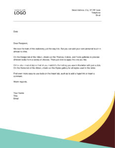 Letters - Office throughout Headed Letter Template Word