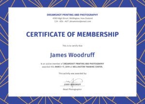 Life Membership Certificate Template Word with regard to New Member Certificate Template