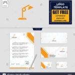 Light Interior Logo Template, Vector Illustration And Inside Business Card Letterhead Envelope Template
