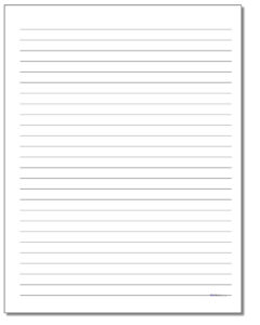 Lined Handwriting Paper Template – Floss Papers With Ruled Paper Template Word