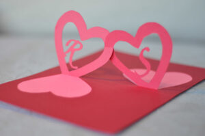 Linked Hearts Pop Up Card Template inside 3D Heart Pop Up Card Template Pdf