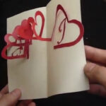 Linked Spiral Hearts – Valentine's Day Pop Up Card Tutorial | Free Pattern With Heart Pop Up Card Template Free