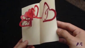 Linked Spiral Hearts – Valentine's Day Pop-Up Card Tutorial | Free Pattern with Heart Pop Up Card Template Free