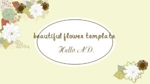 Literary Beautiful Flower Ppt Template_Free Powerpoint inside Pretty Powerpoint Templates