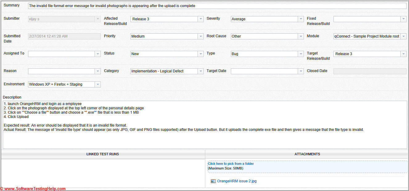 Live Project Bug Tracking, Test Metrics, And Test Sign Off Within Test Closure Report Template