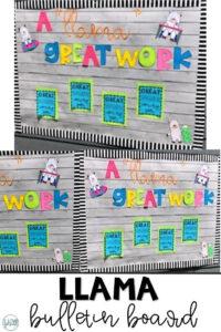 Llama Bulletin Board | Craftivity: Ideas & Resources throughout Bulletin Board Template Word