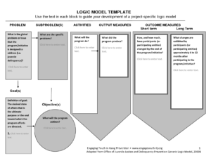 Logic Diagram In Word – Diagrams Catalogue within Logic Model Template Microsoft Word