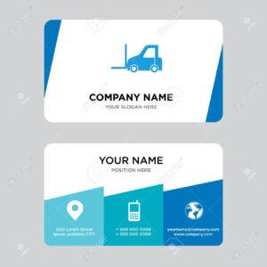 Logistics Transport Business Card Design Template, Visiting For.. with Transport Business Cards Templates Free