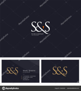 Logo Joint Business Card Template Vector — Stock Vector within Ss Card Template