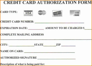 Looking To Download Credit Card Authorization Form? Then You with Credit Card Authorization Form Template Word