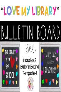 "Love My Library"" Bulletin Board Templates | Clipart for Bulletin Board Template Word"