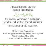 Love The Wording..retirement Reception Invitation. $10.00 Inside Retirement Card Template