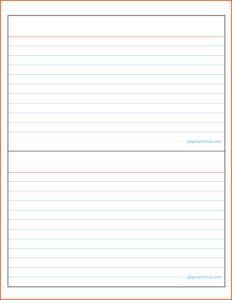 Lovely 3X5 Index Card Template – Www.szf.se with Microsoft Word Note Card Template