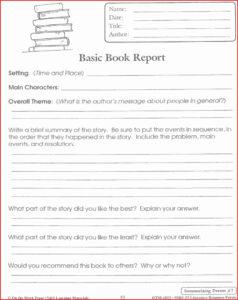 Lovely 4Th Grade Book Report Template | Job Latter pertaining to Book Report Template 4Th Grade