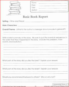 Lovely 4Th Grade Book Report Template | Job Latter within Story Report Template