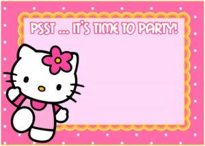 Lovely Hello Kitty Baby Shower Invitations Free | Best Baby Show With Hello Kitty Banner Template