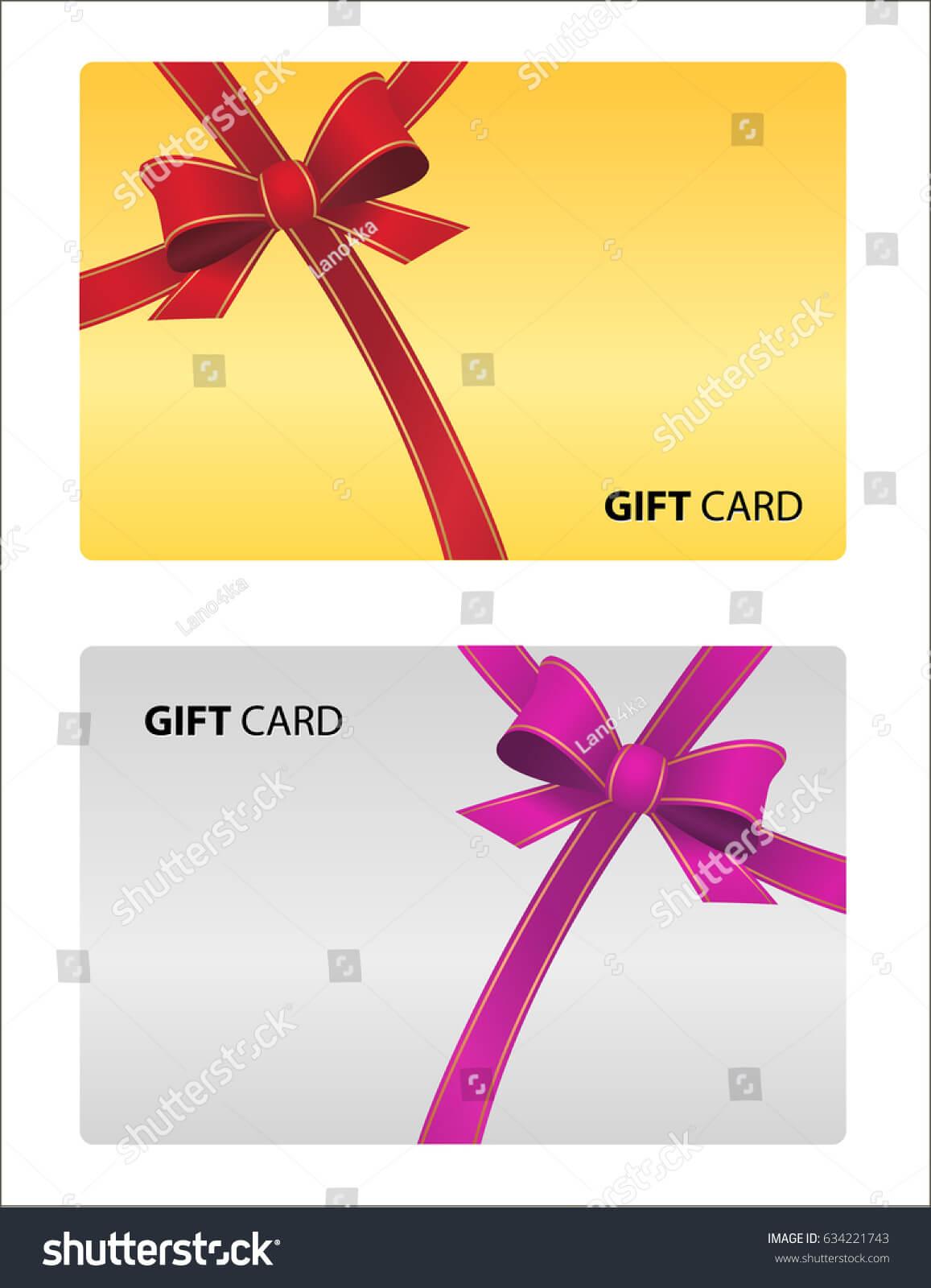 Loyalty Card Design Template Beautiful Gift Stock Vector Regarding Loyalty Card Design Template