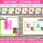 Luau Party Banner Template Throughout Diy Party Banner Template