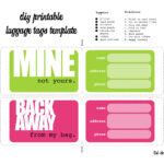 Luggage Tags Template. I Was Able To Print Them And Cut Them For Blank Luggage Tag Template