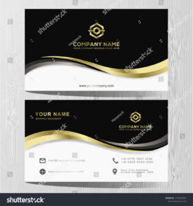 Luxury And Elegant Black Gold Business Cards Template On inside Advertising Cards Templates