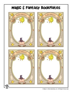 Magic And Fantasy Book Printable Bookplates | Woo! Jr. Kids regarding Bookplate Templates For Word