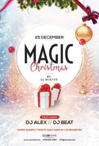 Magic Christmas – Free Psd Flyer Template | Free Psd Flyers throughout Christmas Brochure Templates Free