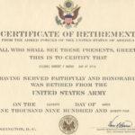 Major Robert F. Burns – Army Retirement Certificate For In Retirement Certificate Template