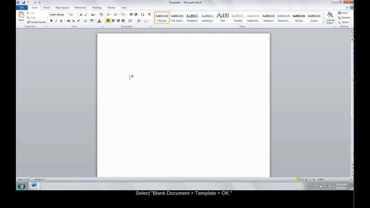 Make A Custom Template In Word For How To Insert Template In Word