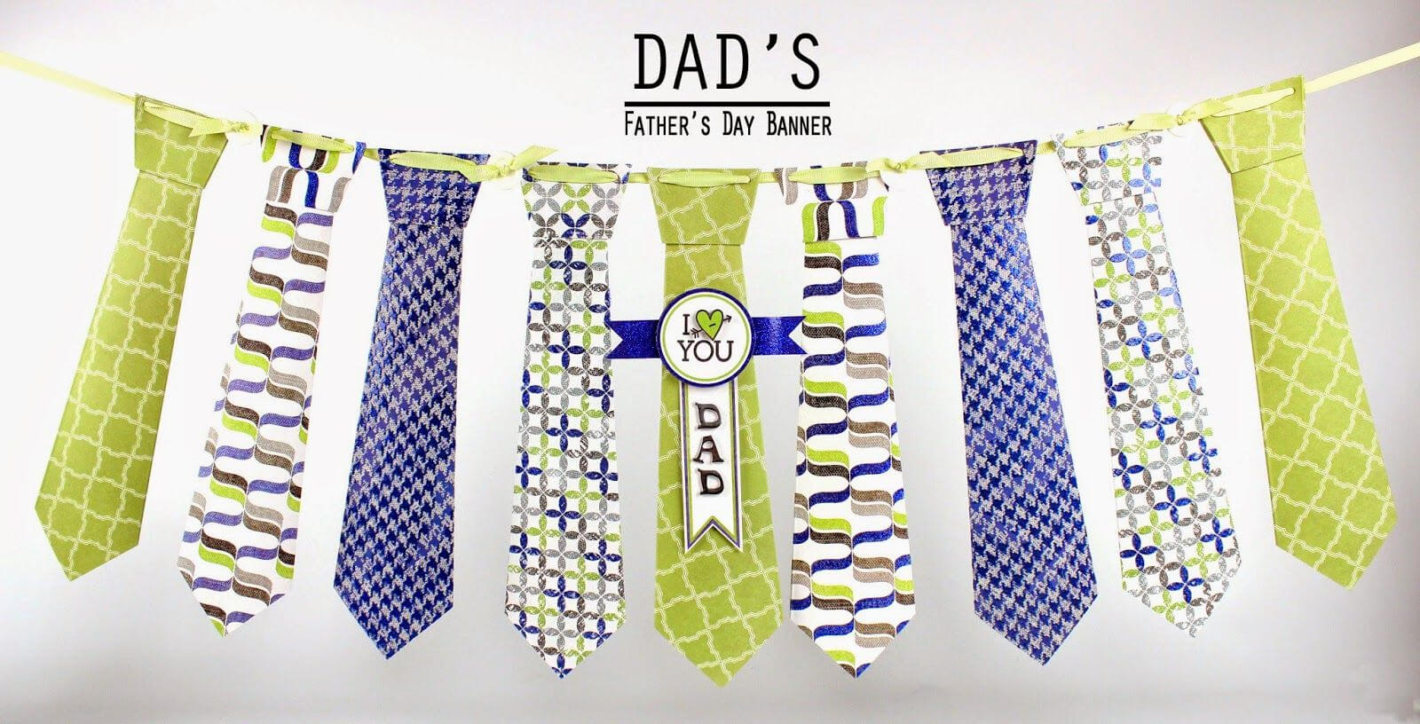Make A Father's Day Tie Banner Using A Simple Template intended for Tie Banner Template