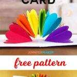 Make A Pop Up Heart Rainbow Card | Best Of Jennifer Maker Pertaining To Heart Pop Up Card Template Free