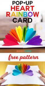 Make A Pop-Up Heart Rainbow Card | Best Of Jennifer Maker pertaining to Heart Pop Up Card Template Free