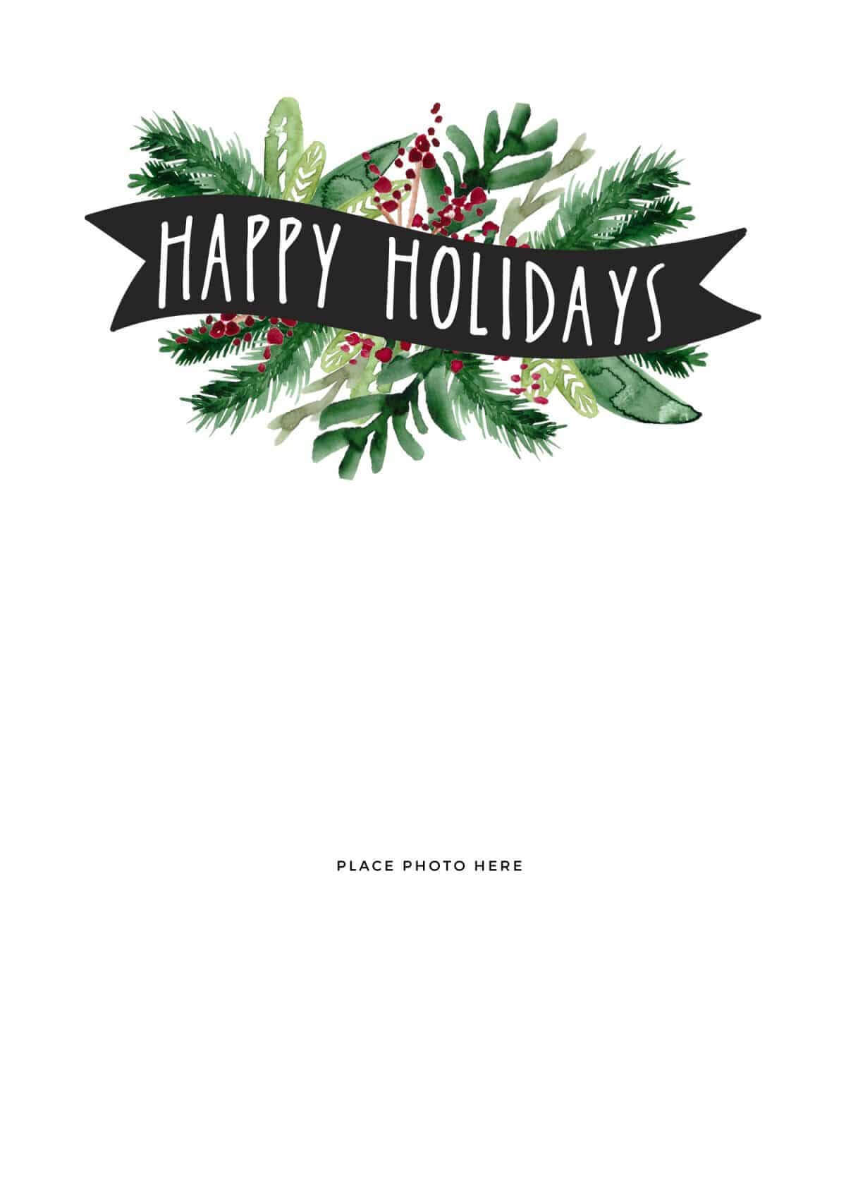 Make Your Own Photo Christmas Cards (For Free!) - Somewhat With Happy Holidays Card Template