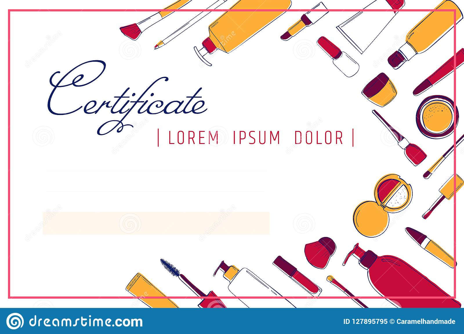 Makeup Certificate Template. Beauty School Or Refresher Pertaining To Beautiful Certificate Templates