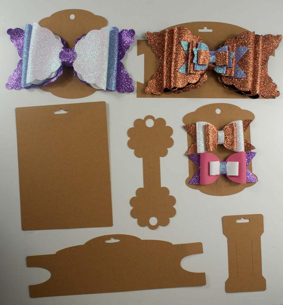 Making Bow And Headband Display Cards On The Cricut – Svg Intended For Headband Card Template