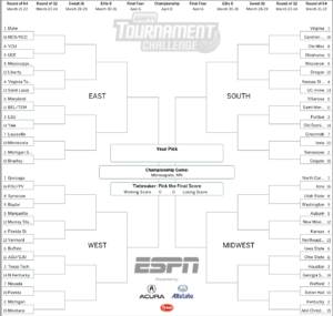 March Madness 2019: Get Your Printable Ncaa Bracket From for Blank March Madness Bracket Template