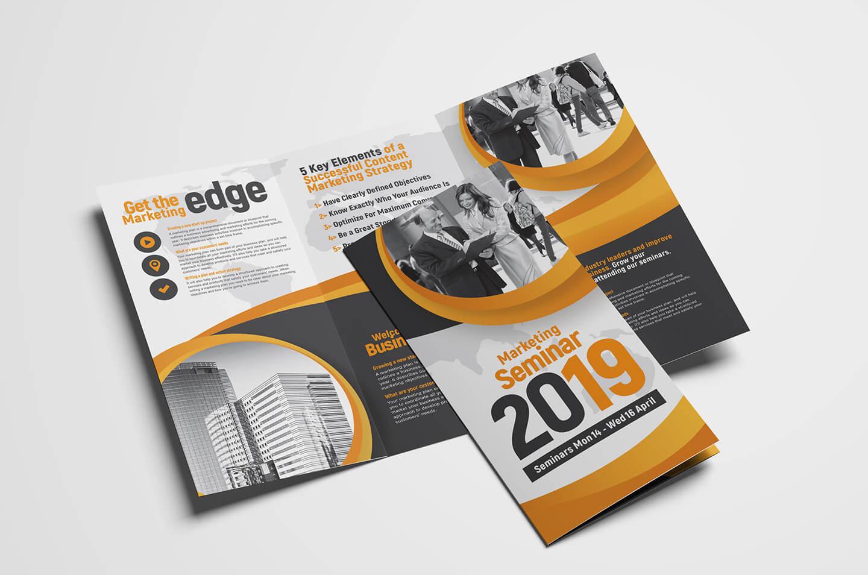 Marketing Seminar Tri Fold Brochure Template – Psd, Ai & Vector With Regard To 3 Fold Brochure Template Psd