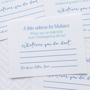 Marriage Advice Cards, Words Of Wisdom, Bridal Shower Games for Marriage Advice Cards Templates