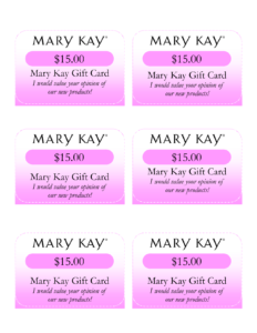 Mary Kay Birthday Certificates | Mary Kay Gift Card I Would intended for Mary Kay Gift Certificate Template