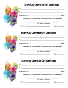 Mary Kay Certificate.636-448-4191. Seckhoff1@marykay within Mary Kay Gift Certificate Template