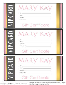 Mary Kay Gift Certificates – Please Email For The Full Pdf in Mary Kay Gift Certificate Template