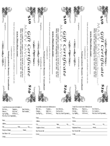 Mary Kay Printable Gift Certificates – Fill Online within Mary Kay Gift Certificate Template