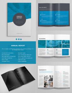 Más De 15 Plantillas De Informes Anuales: Con Impresionantes pertaining to Illustrator Report Templates