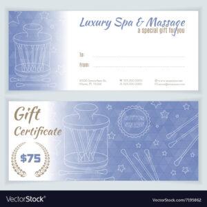 Massage Gift Voucher Template | Certificatetemplategift with Massage Gift Certificate Template Free Printable