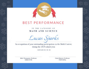 Math Contest – Certificate Template – Visme For Math Certificate Template