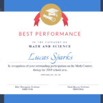 Math Contest – Certificate Template – Visme Throughout Best Performance Certificate Template