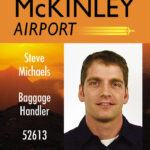 Mckinley Airport Id Card Design | Vectors | Employee Id Card Regarding Portrait Id Card Template