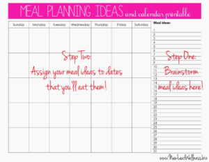 Meal Plan For Two Weeks And Only Grocery Shop Once | It's My pertaining to Meal Plan Template Word